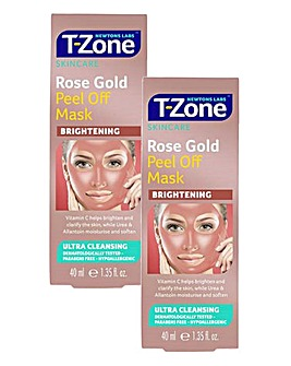 T-Zone Rose Gold Peel Off Mask Duo
