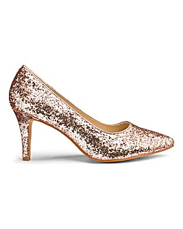 Glitter Court Shoes E Fit