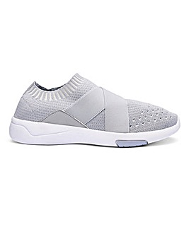 Slip On Crossover Detail Trainers E Fit