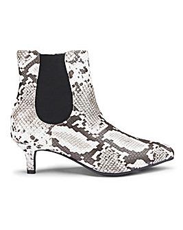 Kitten Heel Chelsea Boots Wide E Fit