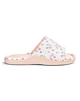 Peep Toe Comfort Slippers E Fit
