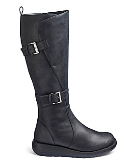 Double Buckle Boots E Fit Ex Curvy Plus