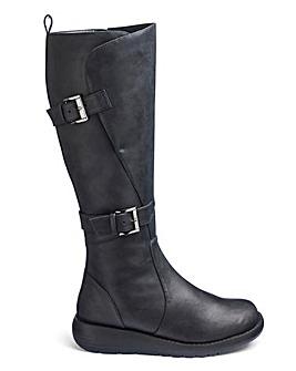 Double Buckle Boots EEE Ex Curvy Plus