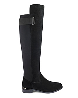 Suede High Boots EEE Fit Standard Calf