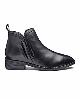 Twin Gusset Leather Ankle Boots EEE Fit