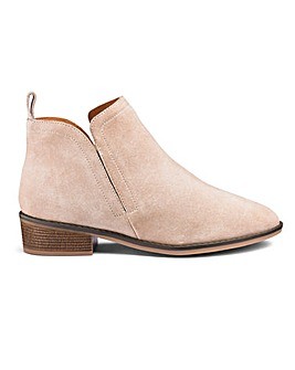 Twin Gusset Leather Ankle Boots E Fit
