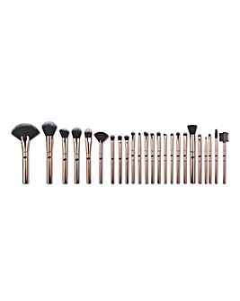 Rio 24 Piece Lush Rose Gold Make Up Brush Set