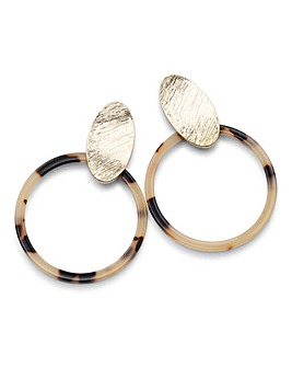Metal Tort Hoop Earrings