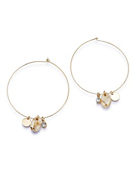 Shell Charm Oversized Earrings