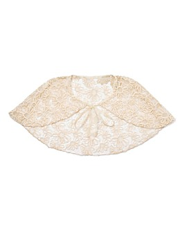 Ribbon And Asher Flower Lace Cape