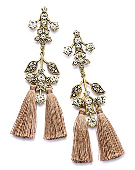 Ribbon And Asher Tassel Earrings