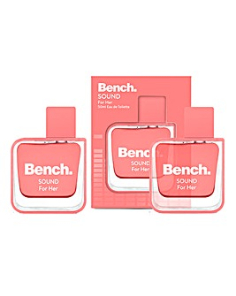 Bench Sound for Her 50ml EDT BOGOF