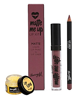 Barry M Matte Me Up Lip Kit - Bespoke & Mango Lip Scrub