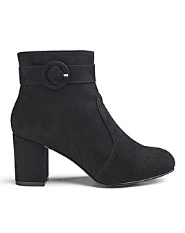 Buckle Detail Ankle Boots E Fit