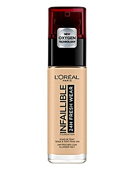 L'Oreal Paris Infallible 24hr Freshwear Liquid Foundation 100 Linen