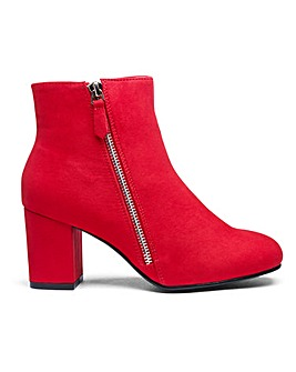 Twin Zip Detail Ankle Boots E Fit