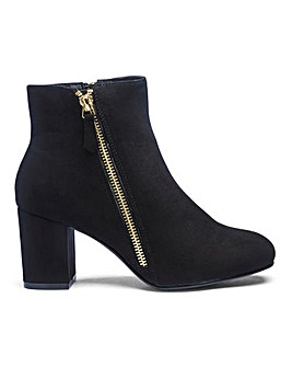 Twin Zip Detail Ankle Boots EEE Fit