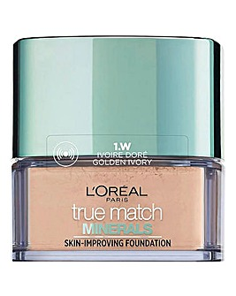 L'Oreal Paris True Match Minerals Powder Foundation 1W Golden Ivory