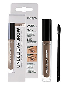 L'Oreal Paris Unbelieva'brow Long-Lasting Brow Gel 104 Brown