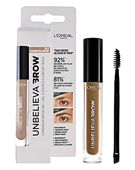 L'Oreal Paris Unbelieva'brow Long-Lasting Brow Gel 103 Warm Blonde