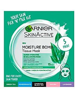 Garnier Face Sheet Mask Multipack