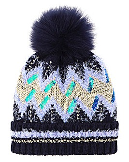 Multi Fairisle Bobble Hat