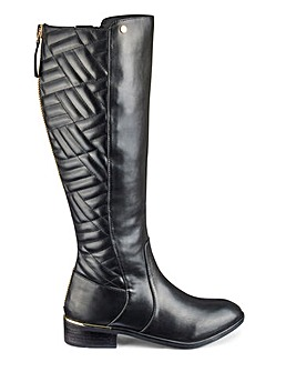 Quilt Detail Boots E Fit Ex Curvy Plus