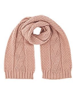 Darby Cable Knit Scarf