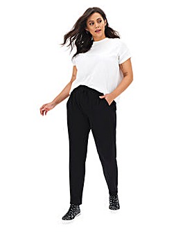 Black Soft Touch Trousers