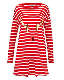 Stripe Reindeer Tunic