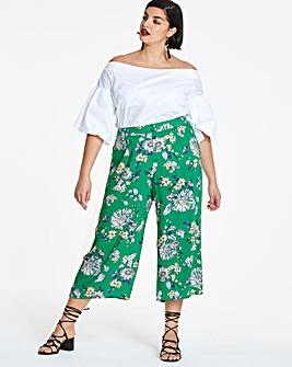 Floral Print Wide Leg Culottes