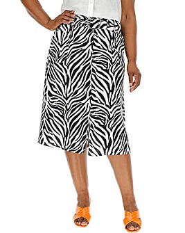 55fd99d3067 Zebra Print Midi Skirt