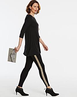 Glitter Side Panel Leggings