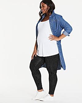 Maternity Spot Print Jersey Leggings