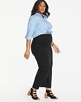 Maternity Jersey Maxi Tube Skirt