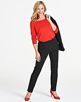 Black Everyday Kate Slim Leg Trousers Regular