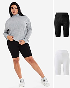 2 Pack Jersey Cycling Shorts