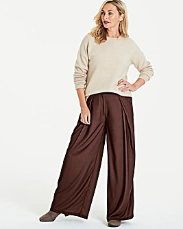 Chocolate Wrap Wide Leg Trousers