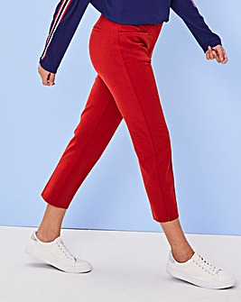 Deep Red Meghan Cigarette Trousers