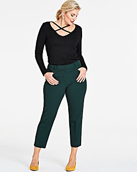 Dark Green Meghan Cigarette Trousers