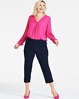Navy Meghan Cigarette Trousers