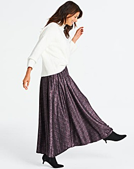Stretch Jersey Glitter Maxi Skirt