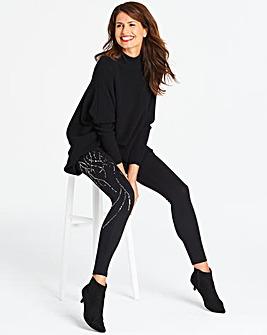 Embellished Sequin Leggings