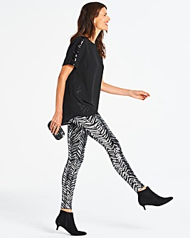 Zebra Sequin Leggings