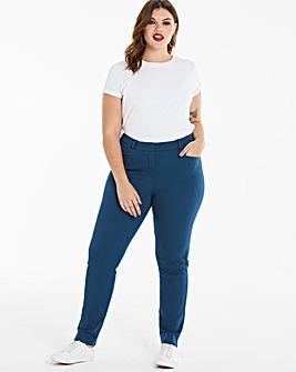 Teal Everyday Kate Slim Leg Trousers