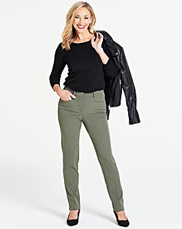 Khaki Everyday Kate Slim Leg Trousers