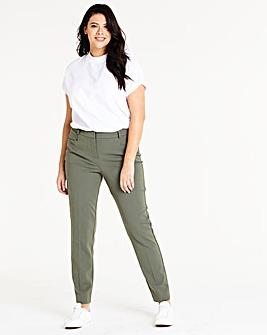 Khaki Everyday Kate Slim Leg Trousers