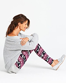 Fairisle Stretch Jersey Leggings