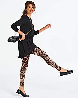 Leopard Animal Print Jersey Leggings