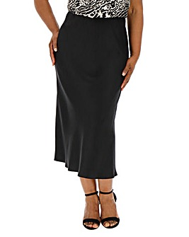 Satin Column Maxi Skirt